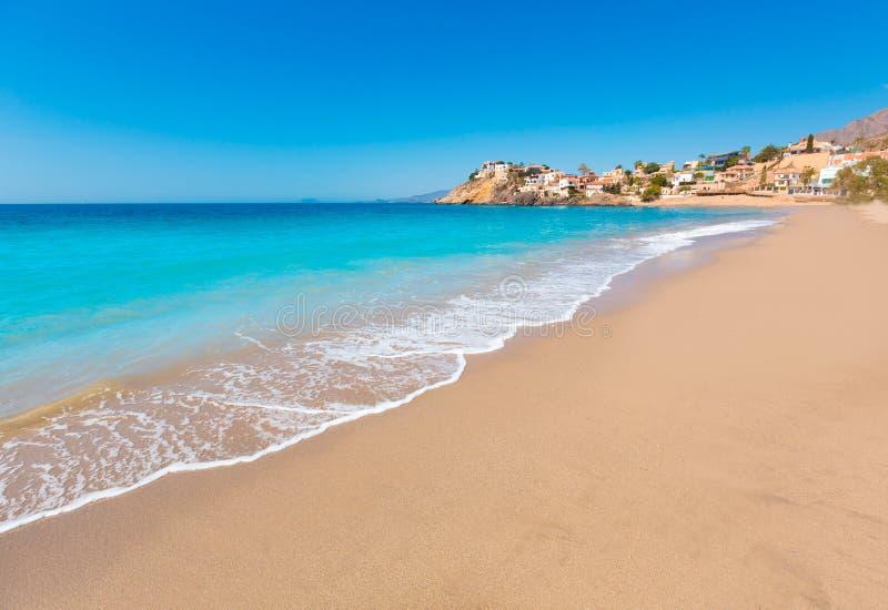 Bolnuevo plaża w Mazarron Murcia przy Hiszpania fotografia royalty free