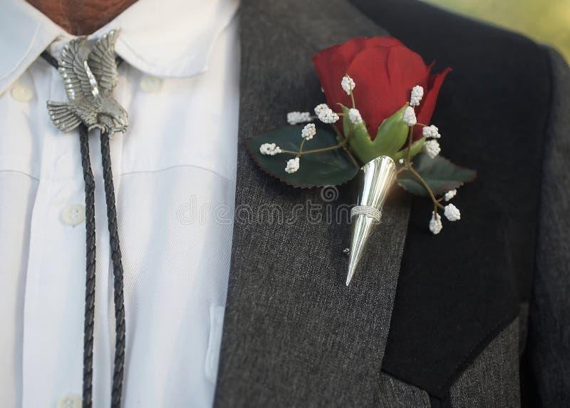 bolo boutonniere krawat zdjęcie royalty free