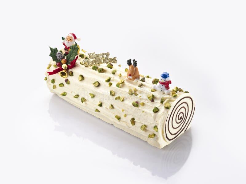 Bolo cremoso do delifrance com amendoim e chocolate para Christma fotos de stock royalty free