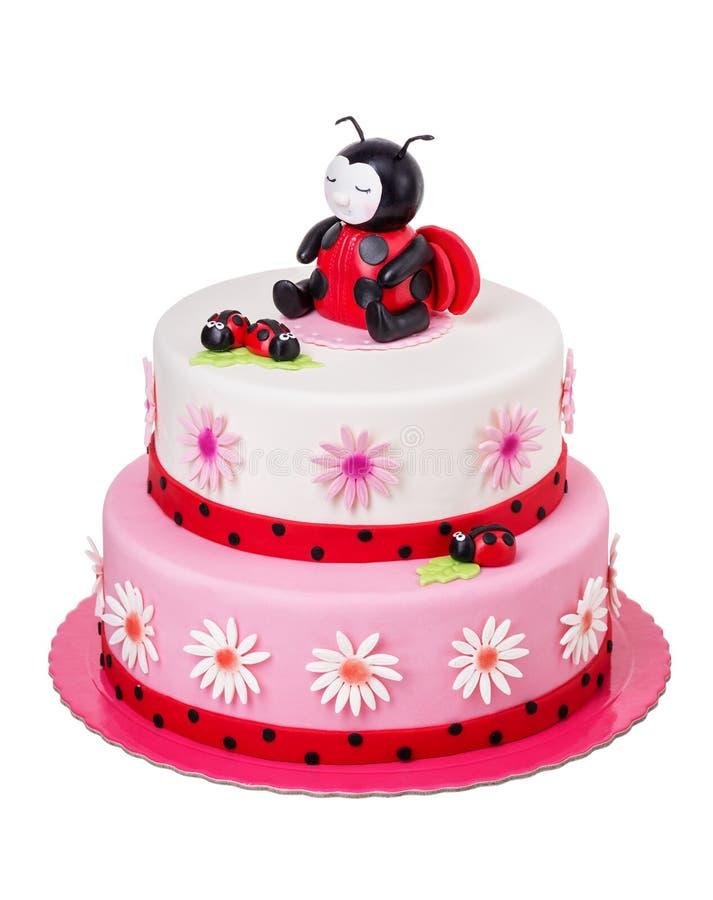 Bolo criativo para uma menina em seu aniversário foto de stock royalty free