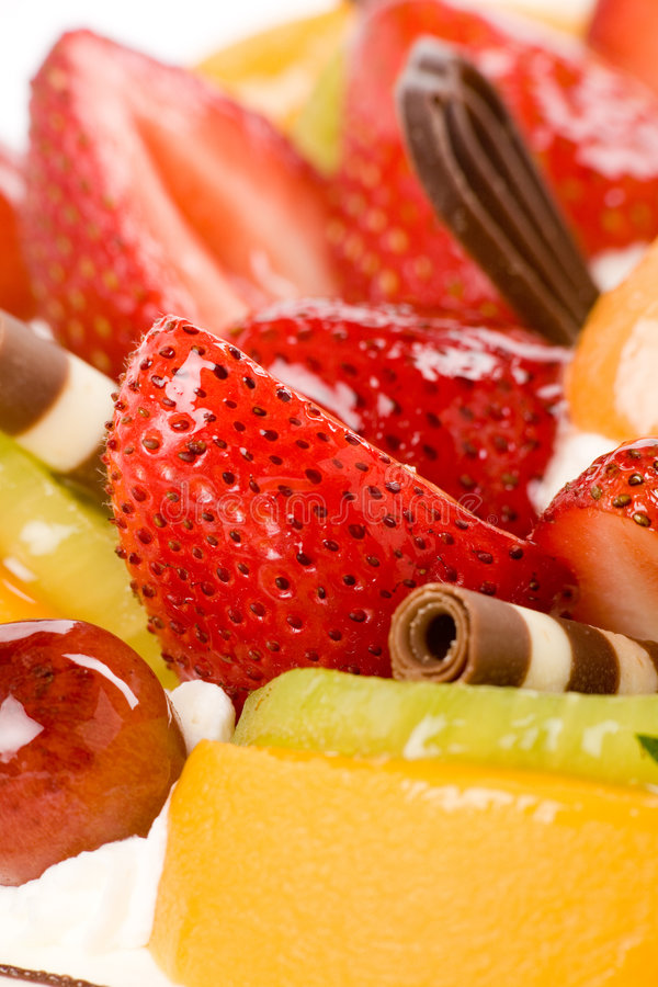 Bolo da fruta imagens de stock royalty free