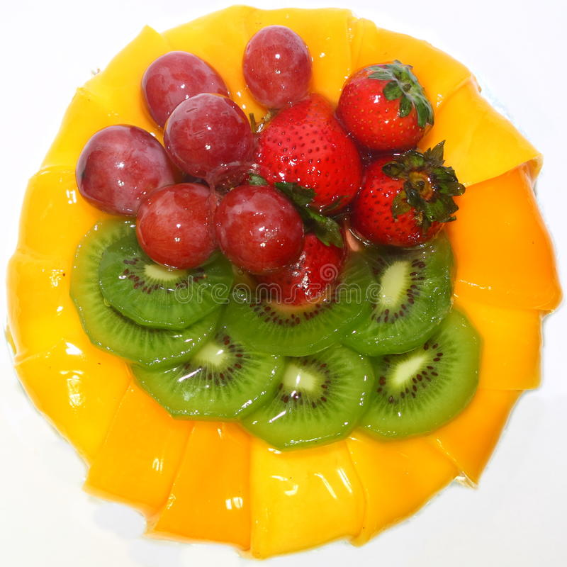 Bolo das frutas imagens de stock royalty free