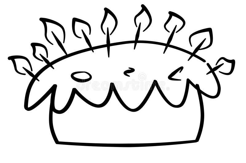 Bolo de aniversário ilustração do vetor