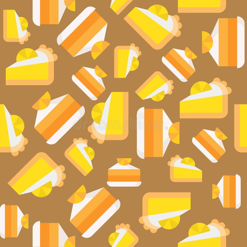 Bolo de camada da laranja e do limão, teste padrão sem emenda ilustração stock