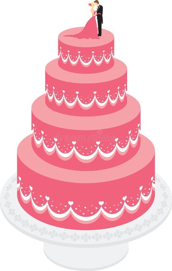 Bolo de casamento ilustração royalty free
