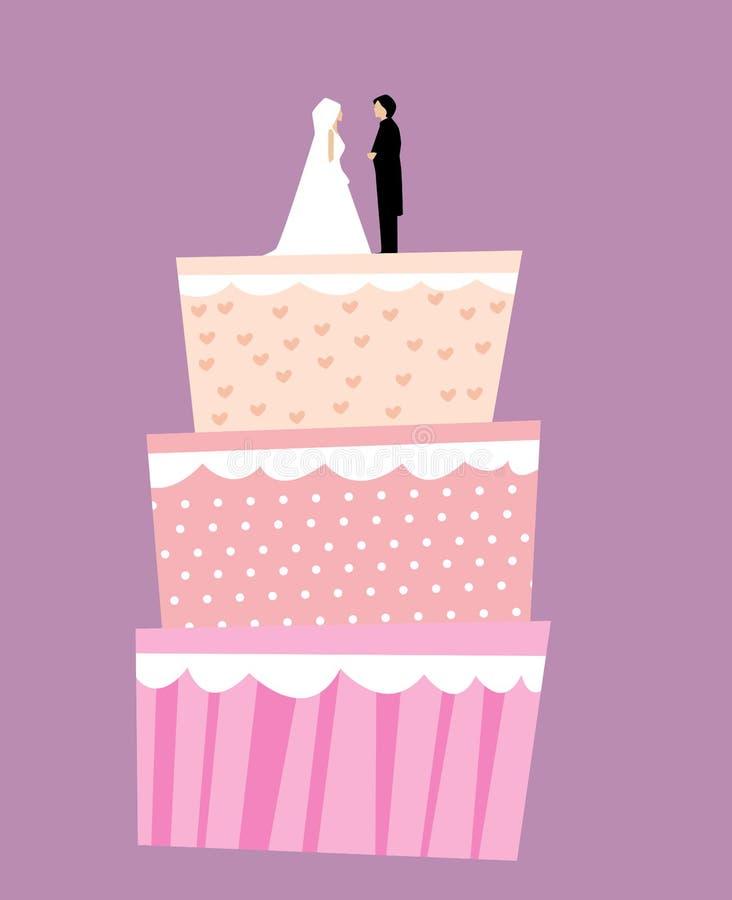 Bolo de casamento ilustração do vetor