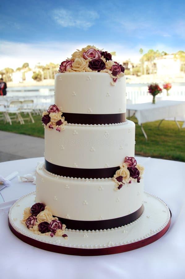 Bolo de casamento bonito imagem de stock
