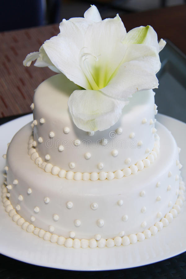 Bolo de casamento bonito pequeno moderno fotos de stock royalty free