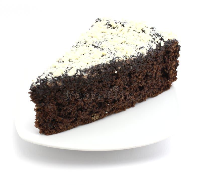 Bolo de Choco com chocolate branco no backgroun branco foto de stock