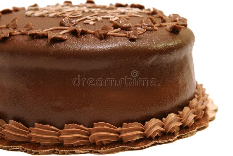 Bolo de chocolate - 1 parcial fotografia de stock royalty free