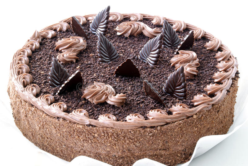 Bolo de chocolate imagem de stock