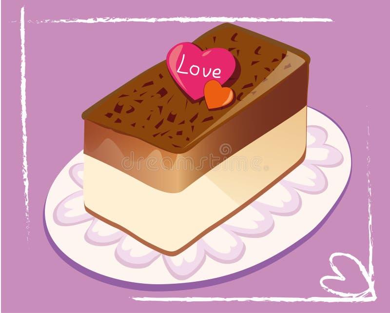 Bolo de chocolate ilustração royalty free