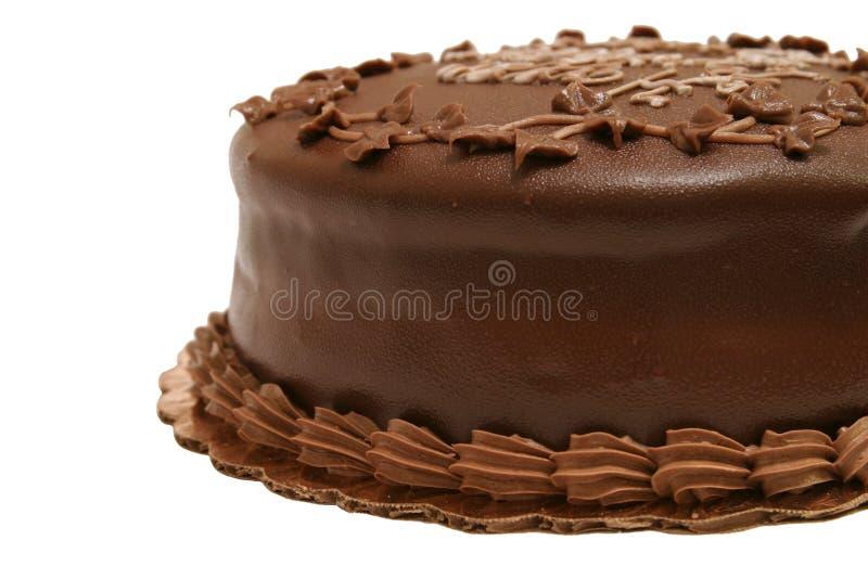 Bolo de chocolate - 2 parciais imagem de stock royalty free