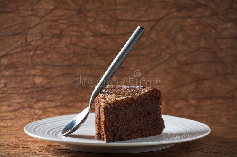 Bolo de chocolate fotografia de stock royalty free