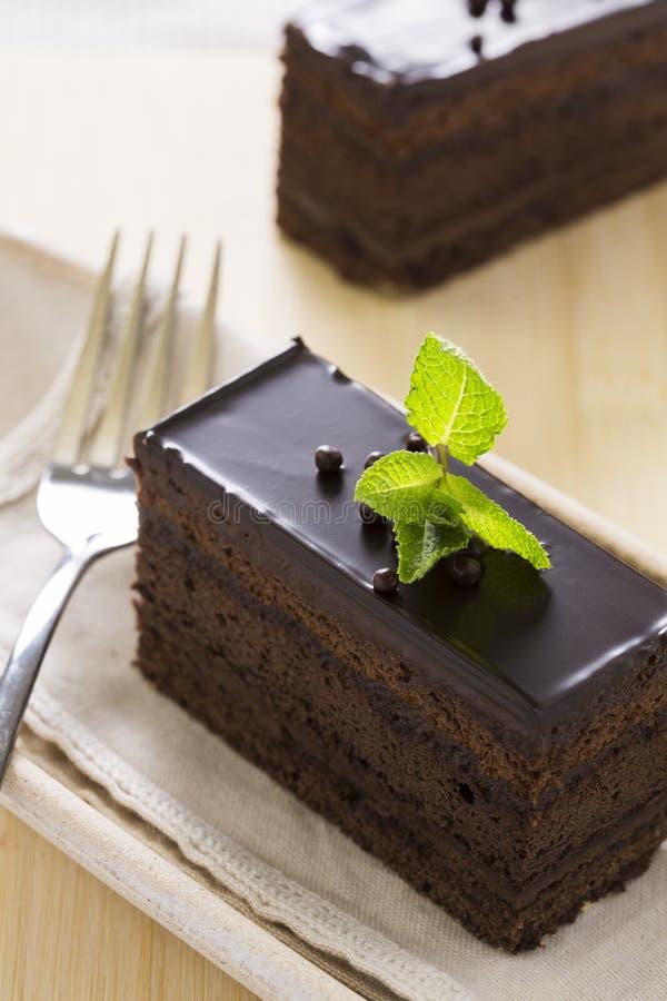 Bolo de chocolate fotografia de stock