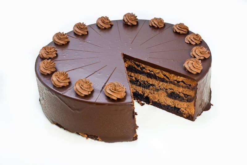 Bolo de chocolate caseiro fotos de stock royalty free