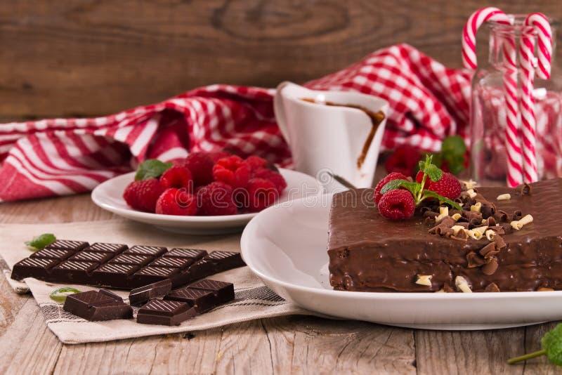 Bolo de chocolate fotos de stock