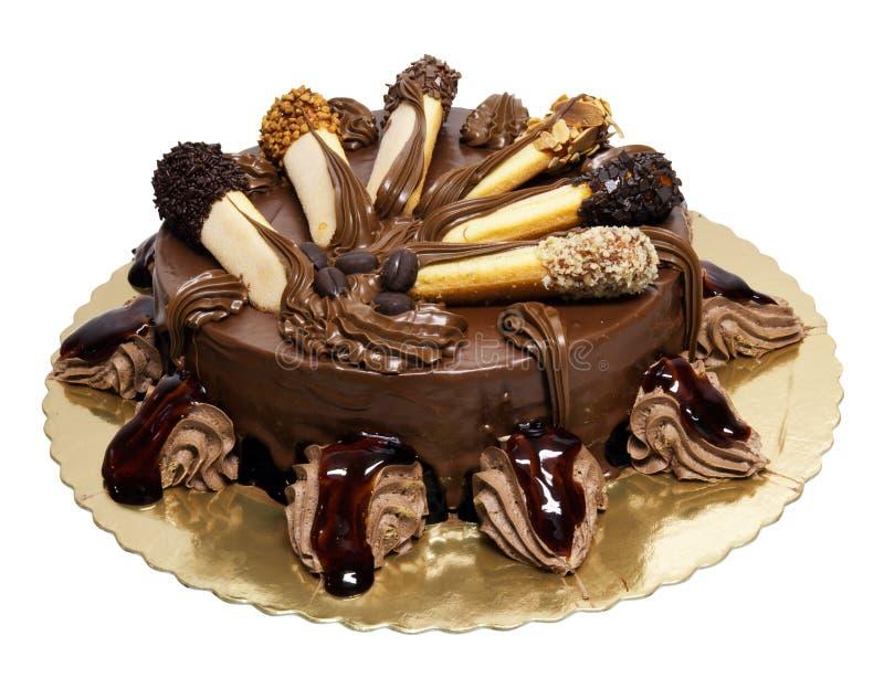 Bolo de chocolate com lady-fingers foto de stock
