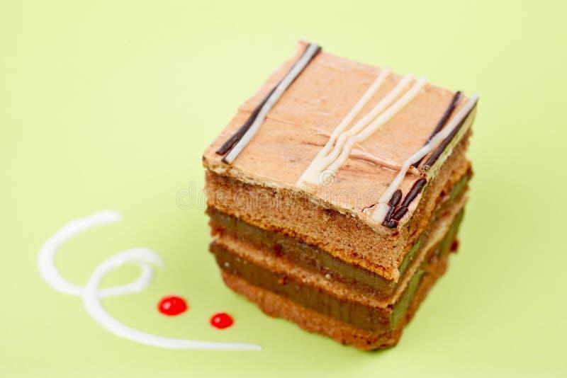 Bolo de chocolate delicioso foto de stock royalty free