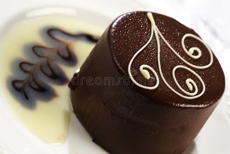 Bolo de chocolate delicioso fotografia de stock royalty free