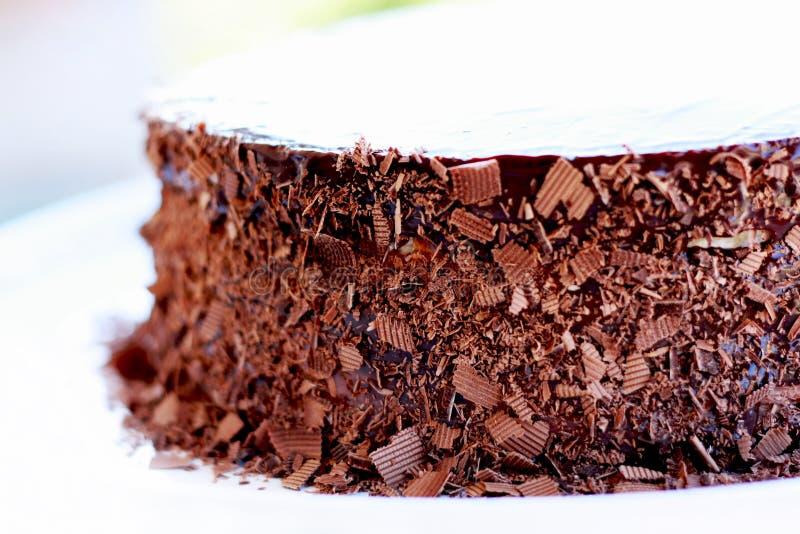 Bolo de chocolate do aniversário foto de stock