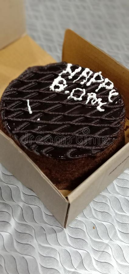 Bolo de chocolate do CCD imagem de stock royalty free