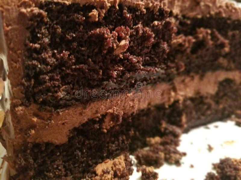 Bolo de chocolate friável imagens de stock