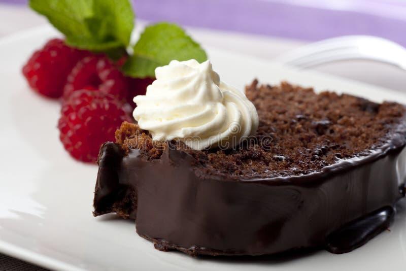 Bolo de chocolate III imagens de stock