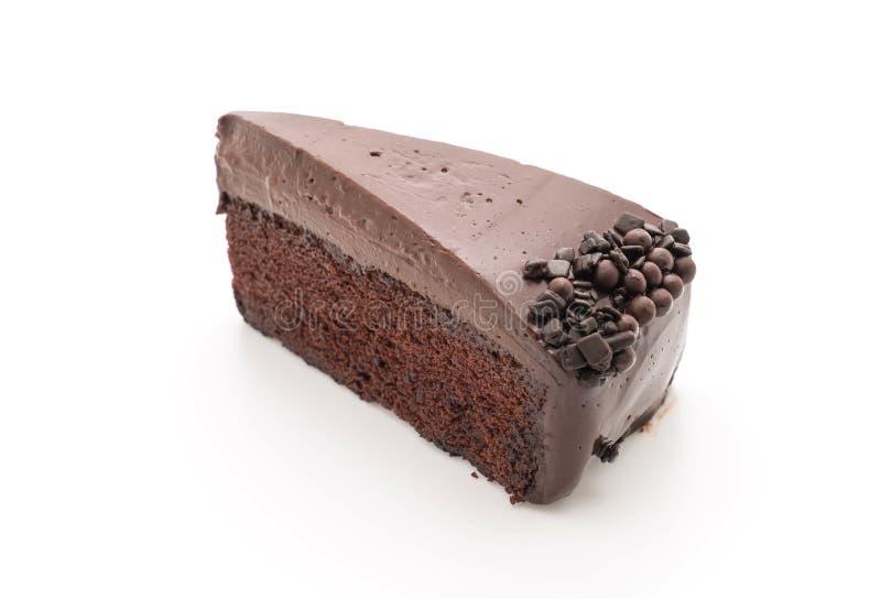 Bolo de chocolate no branco fotografia de stock royalty free
