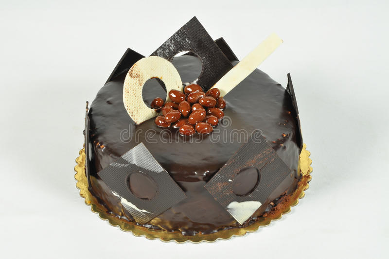 Bolo de chocolate Yummy foto de stock