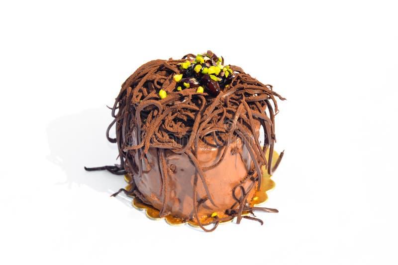 Bolo de chocolate Yummy imagens de stock