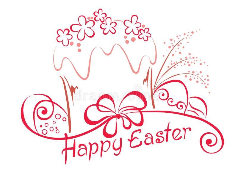 Bolo de Easter ilustração stock