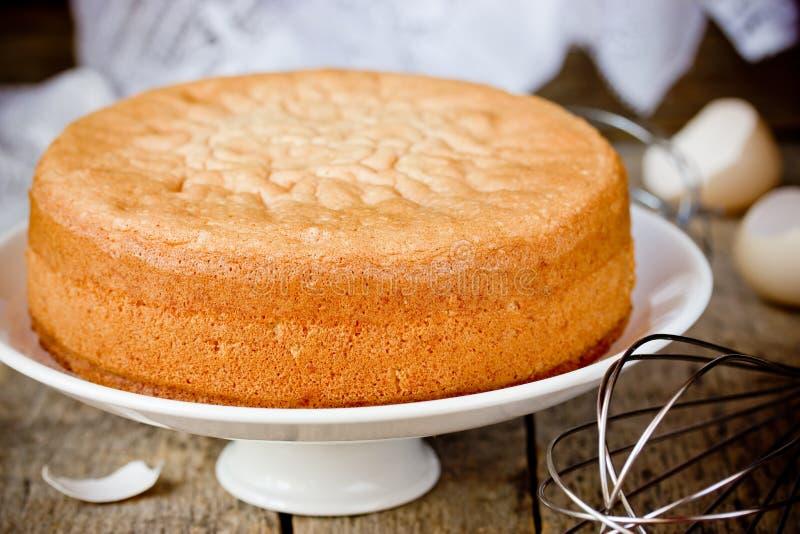 Bolo de esponja fresco do forno Biscoito chiffon para o bolo imagem de stock