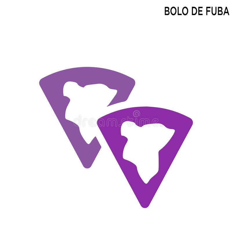 Bolo DE fuba editable pictogram royalty-vrije illustratie