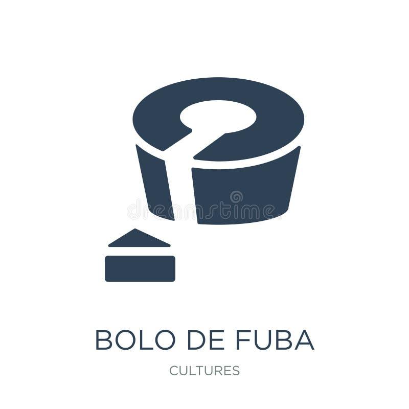 bolo DE fuba pictogram in in ontwerpstijl bolo DE fuba pictogram op witte achtergrond wordt geïsoleerd die bolo DE fuba vector ee stock illustratie