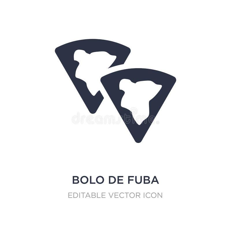 bolo DE fuba pictogram op witte achtergrond Eenvoudige elementenillustratie van Culturenconcept royalty-vrije illustratie