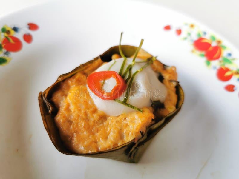 Bolo de peixes, prato picante tailandês imagem de stock royalty free