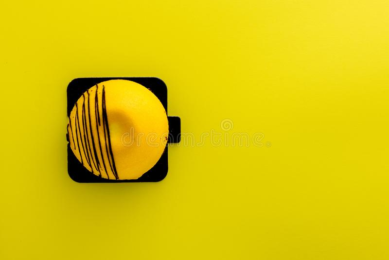 Bolo de queijo da manga foto de stock