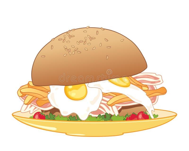 Bolo do café da manhã ilustração royalty free