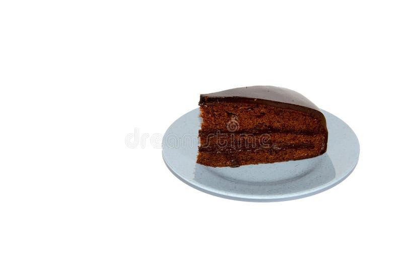 Bolo do caramelo de chocolate fotografia de stock