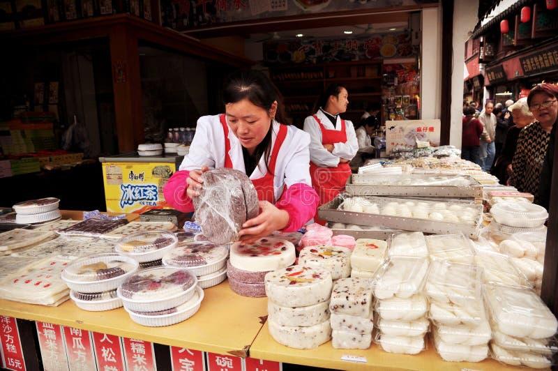 Bolo do chinês como o alimento famoso da rua fotos de stock