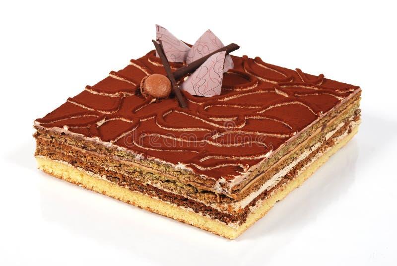 bolo do chocolate e de café imagem de stock