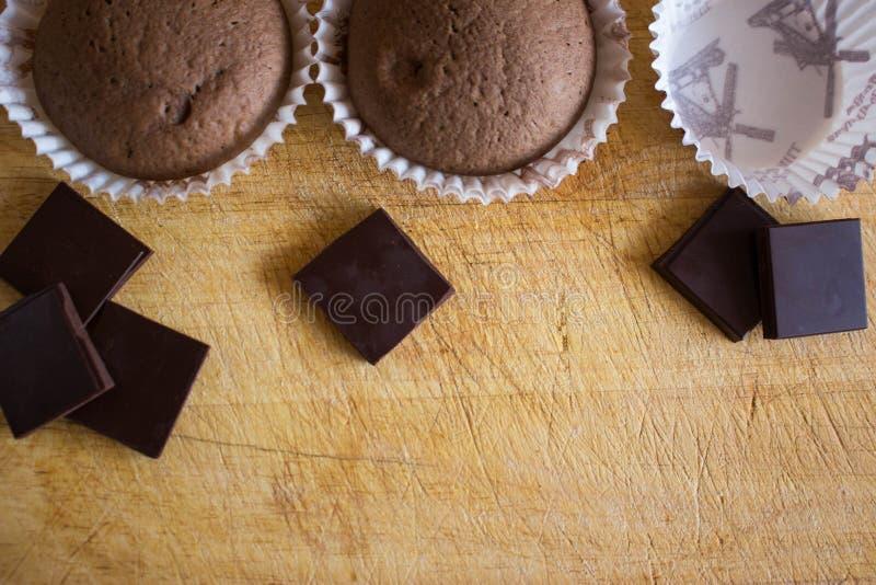 Bolo do copo de Chokolate foto de stock royalty free