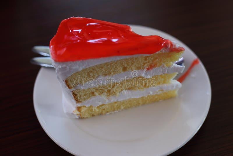bolo do doce de morango imagem de stock