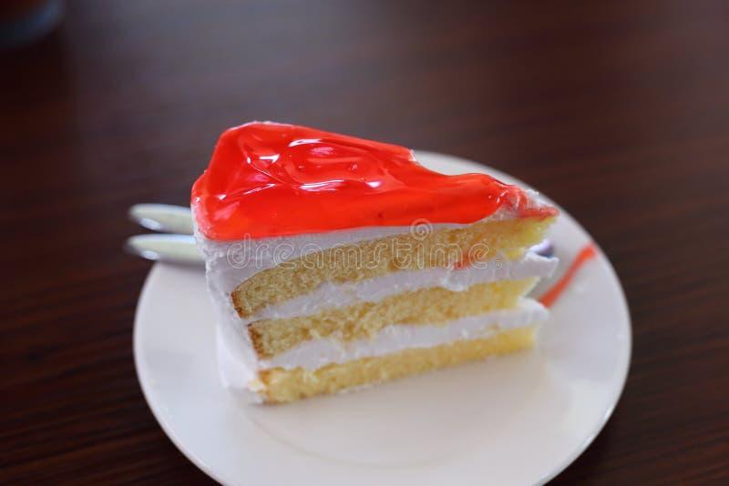 bolo do doce de morango imagens de stock