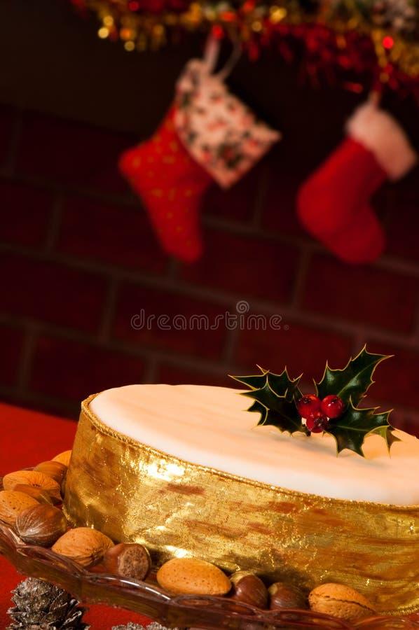 Bolo do Natal imagens de stock
