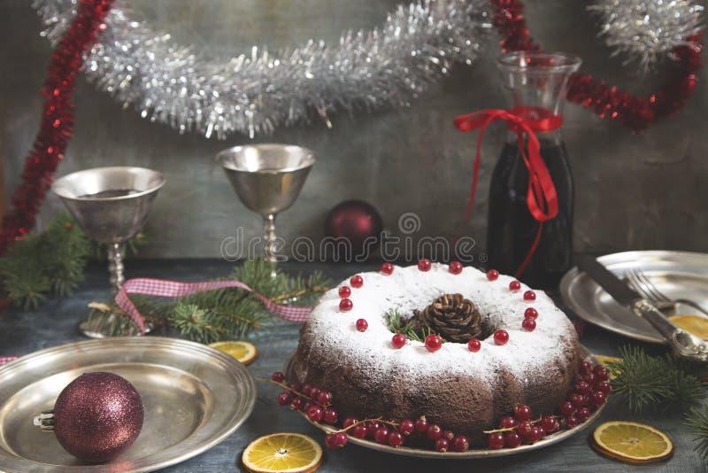 Bolo do Natal e do ano novo fotos de stock royalty free