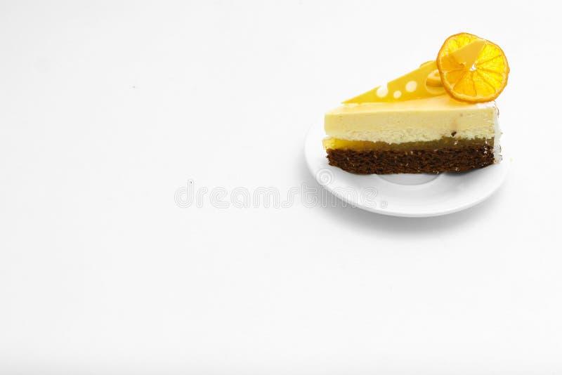 bolo doce com o limão alaranjado do alimento do fundo fotos de stock