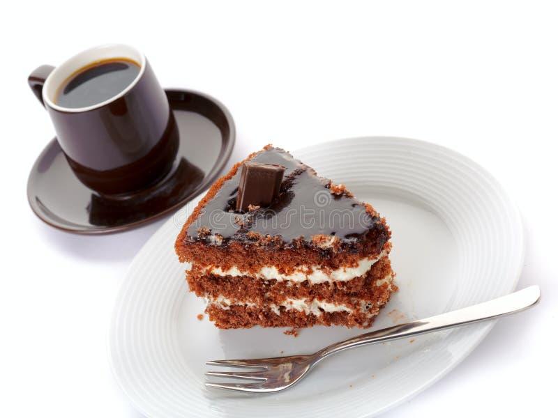 Bolo e café imagem de stock royalty free