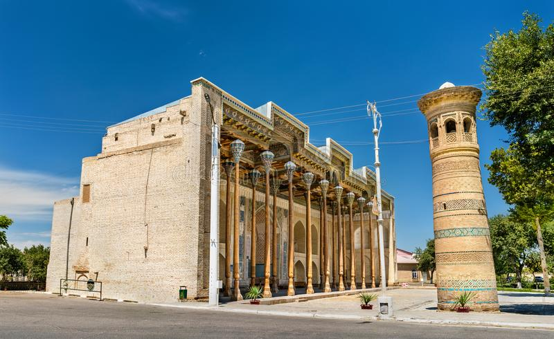 Bolo Hauz μουσουλμανικό τέμενος στη Μπουχάρα, Ουζμπεκιστάν στοκ φωτογραφία